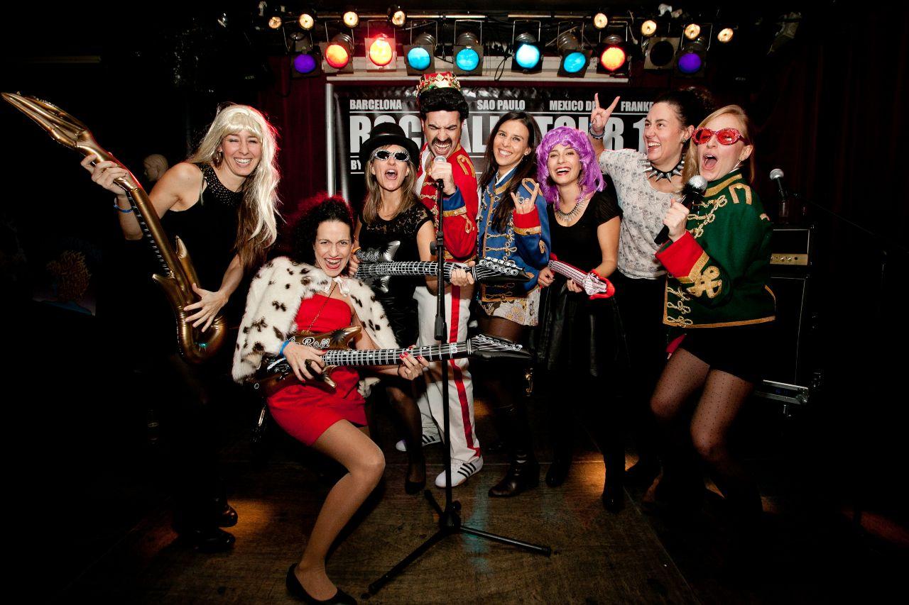Team incentives Rock animation christmas event Barcelona