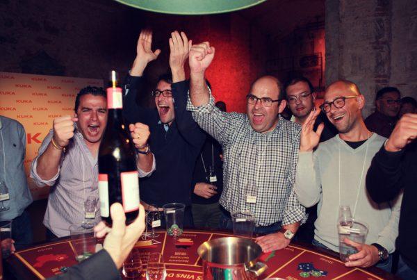 wine casino team building activity