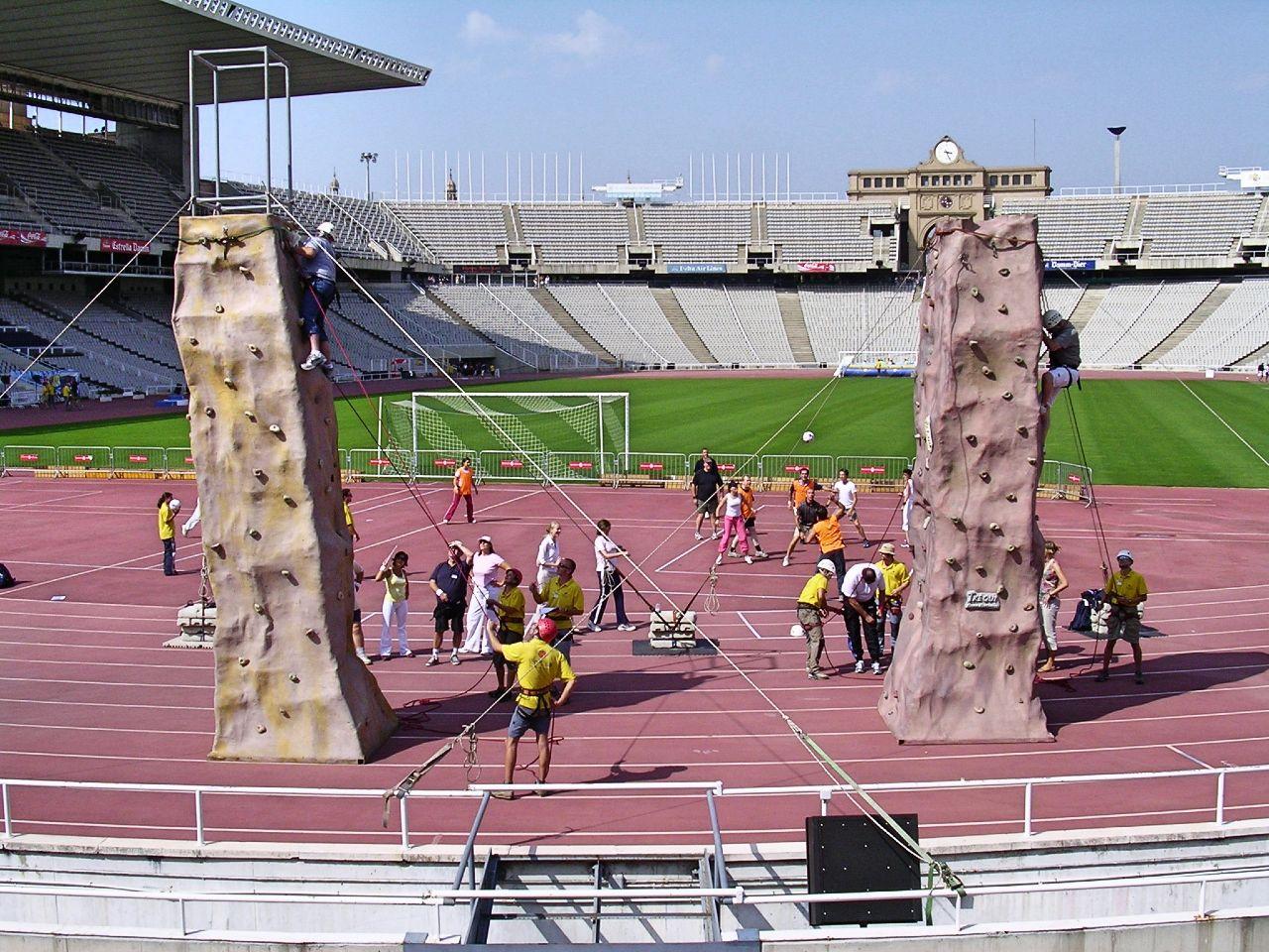 Climbing Team building Olympic stadium barcelona