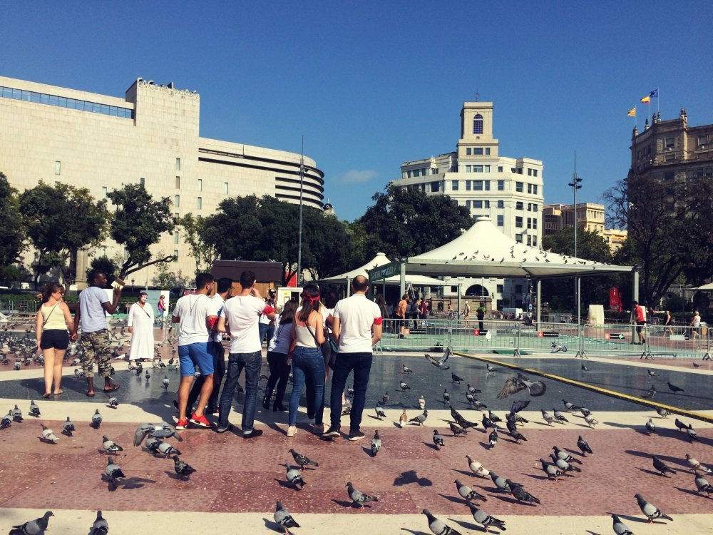 Teambuilding Barcelona iPad race rally