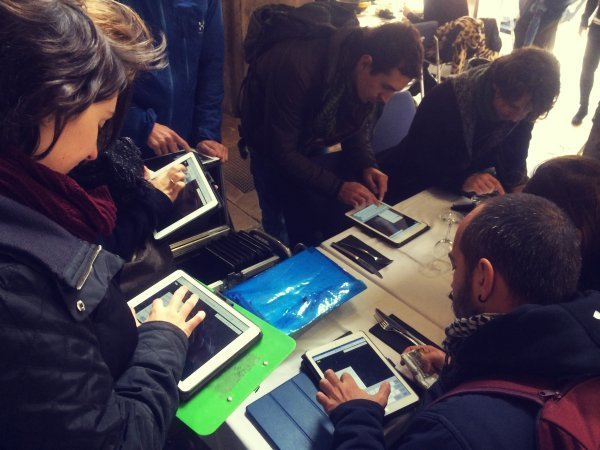 Teambuiling iPad race