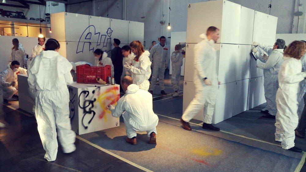 Graffiti team building challenge