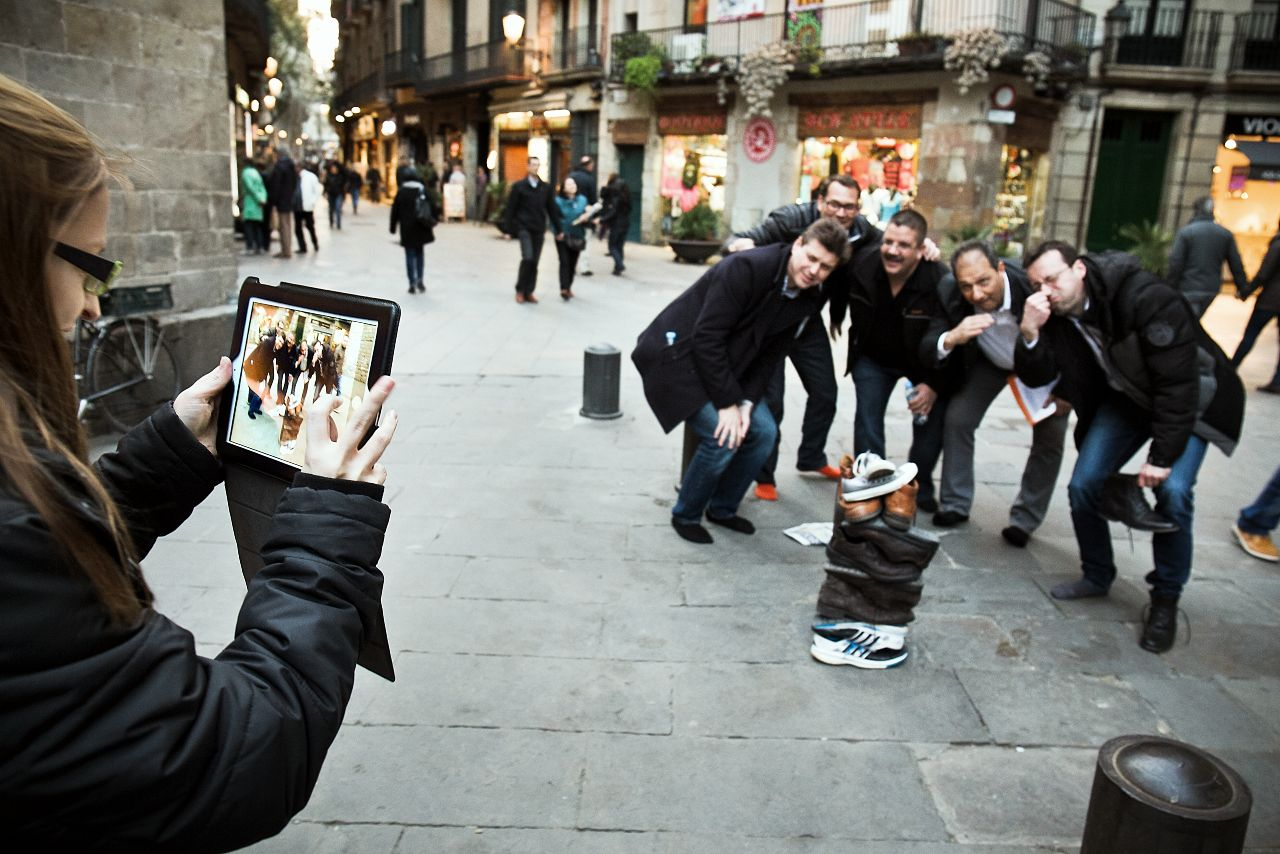 ipad tablets gymkhana in Barcelona