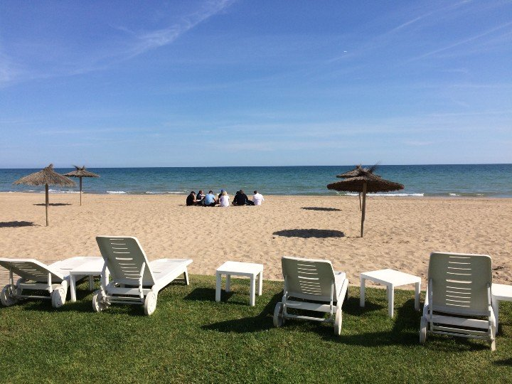 Outdoor meeting playa barcelona