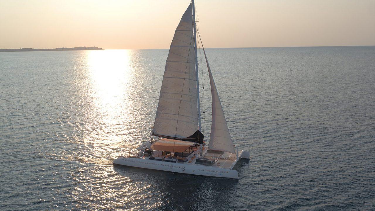 Catamaran cruise team activity