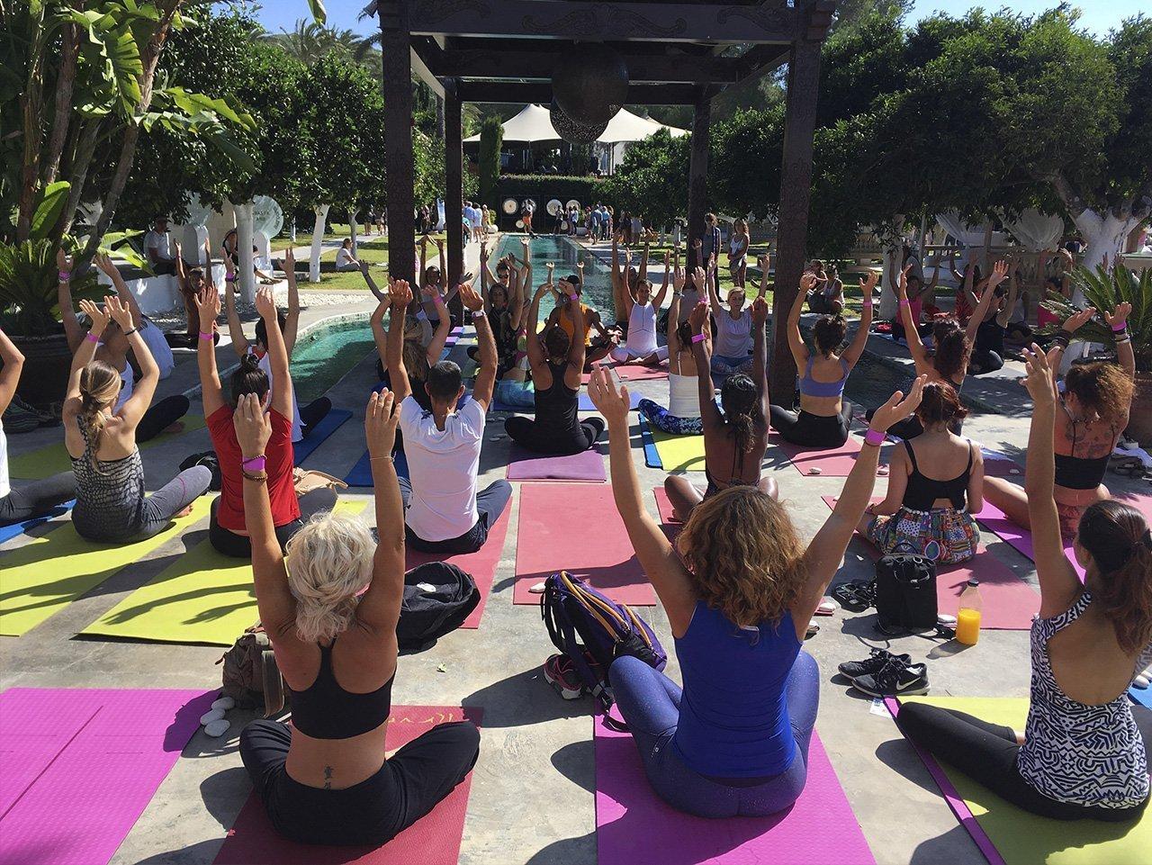 yoga team building activities