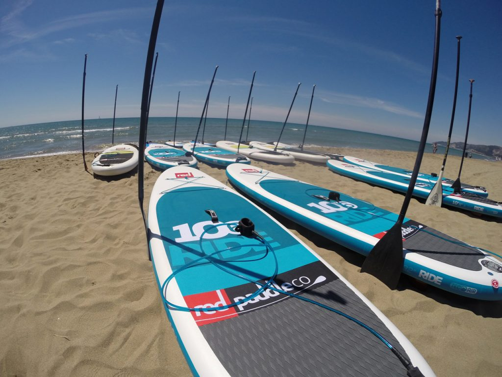 outdoor meeting team building beach paddle sup