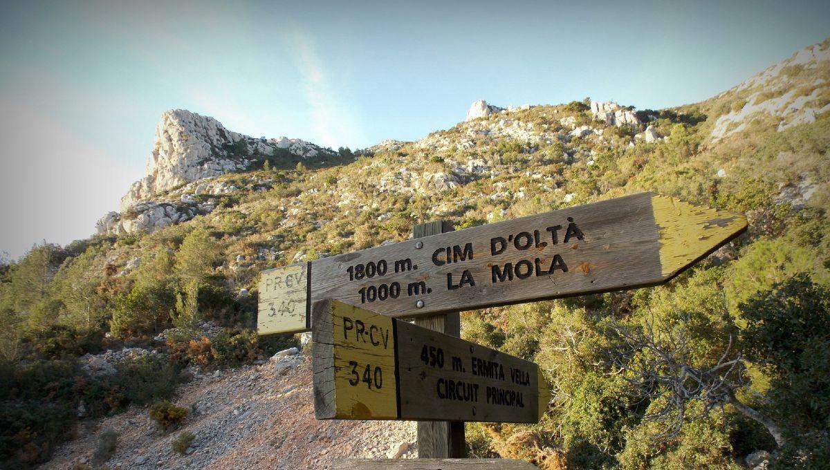 outdoor meeting La Mola hiking monastery