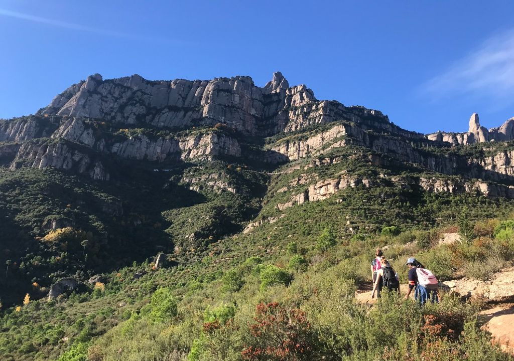 outdoor meeting Montserrat hiking into sacred mountains