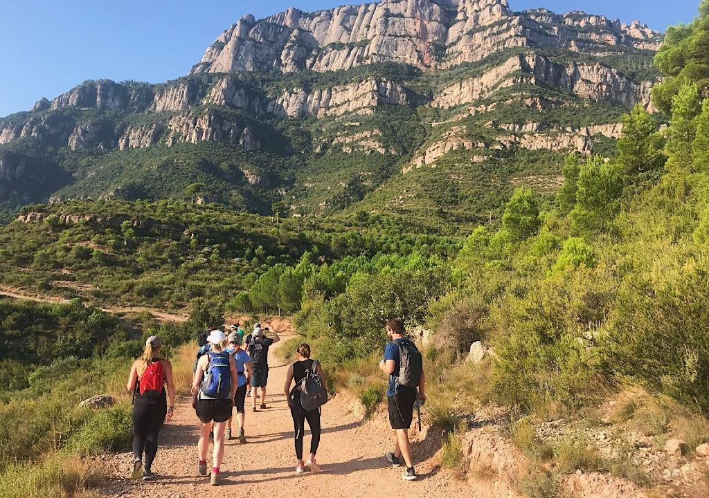 outdoor meeting Hiking in Montserrat