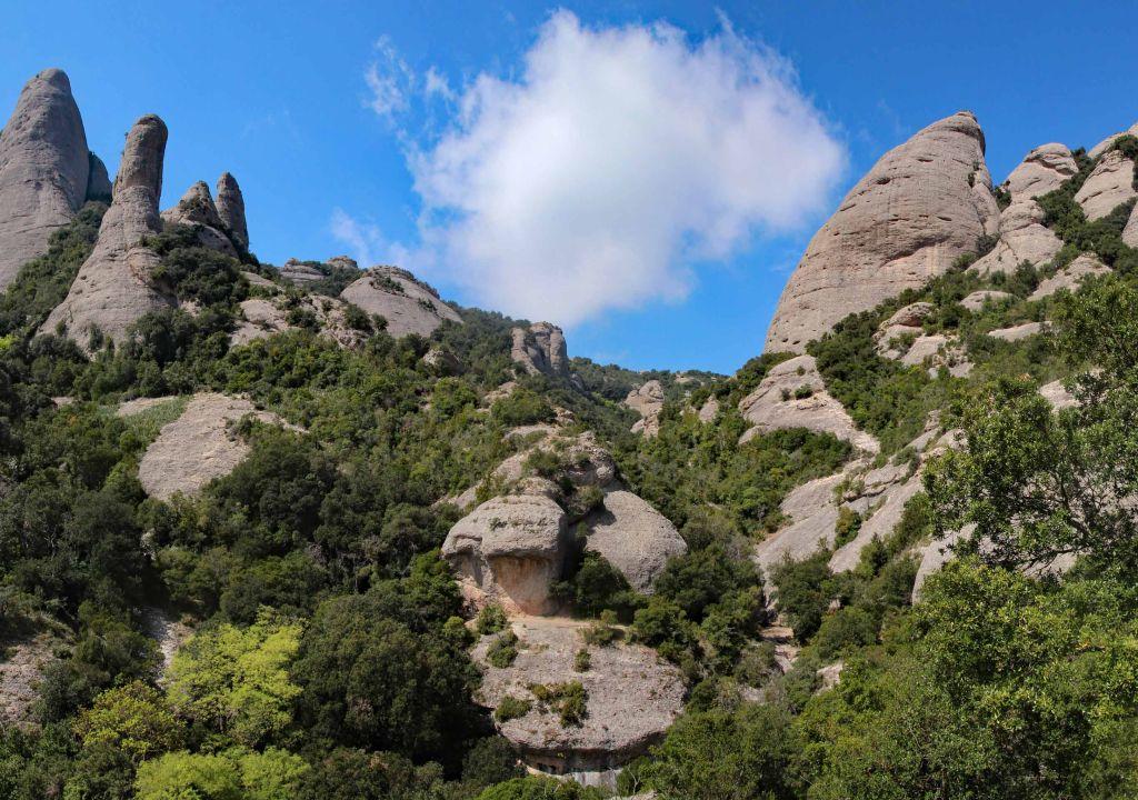 outdoor meeting Montserrat mountains