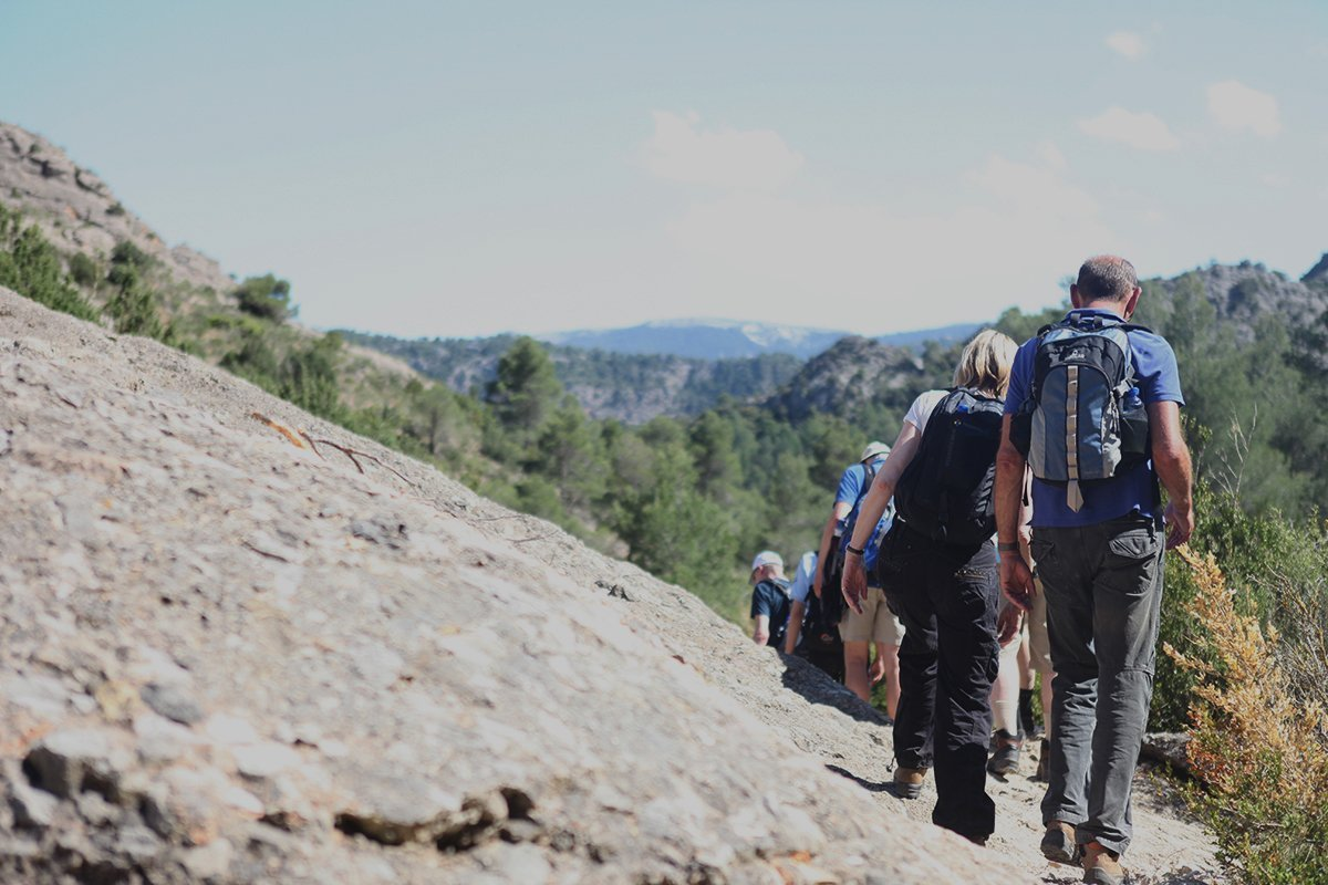 outdoor conference Delte de l'ebre Team hiking