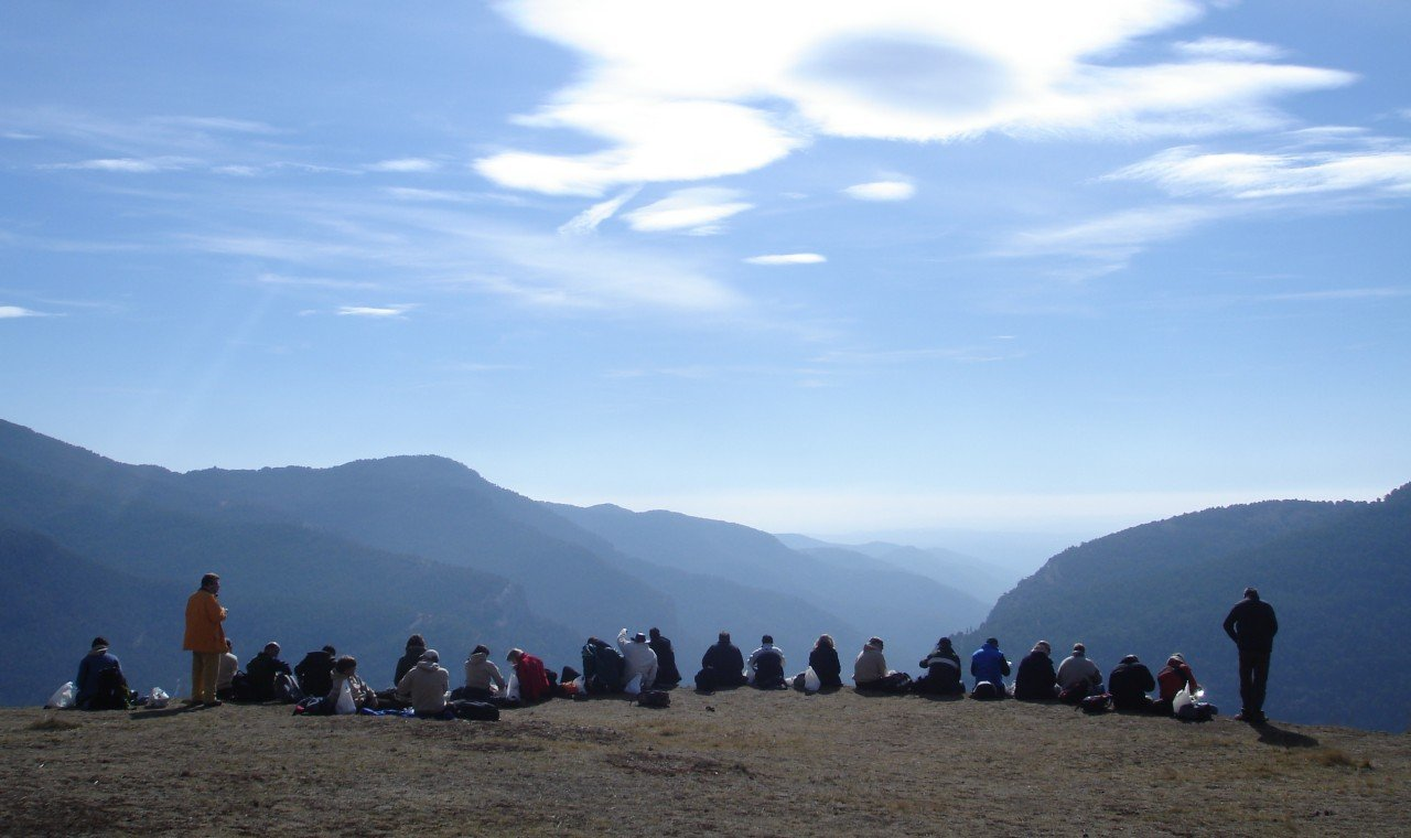 Outdoor conference Pyrenees corporate group